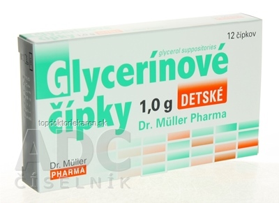 Dr. Müller Glycerínové čípky 1,0 g sup detské 1x12 ks