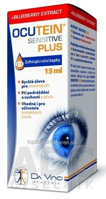 OCUTEIN SENSITIVE PLUS - DA VINCI zvlhčujúce očné kvapky 1x15 ml