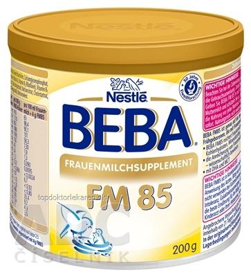 BEBA FM 85 na obohacovanie mater. mlieka, 0m+ (inov.2017) 1x200 g
