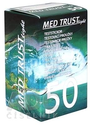 MED TRUST Light testovacie prúžky na meranie hladiny glukózy (1 balenie) 1x50 ks