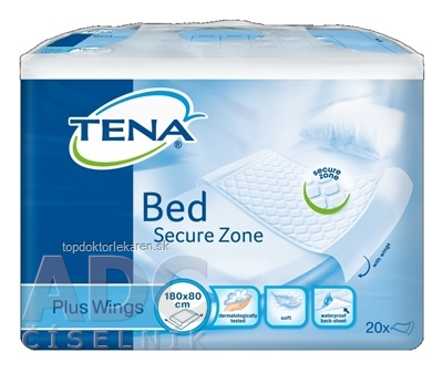 TENA Bed Plus Wings podložka pod pacienta (180x80 cm), savosť 2258 ml, 1x20 ks