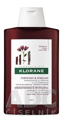 KLORANE SHAMPOOING À LA QUININE ET AUX VITAMINES B posilňujúci vlasový šampón s chinínom a vitamínmi B 1x200 ml