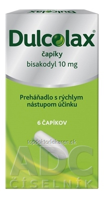Dulcolax čapíky sup 10 mg (blis.Al/PE) 1x6 ks