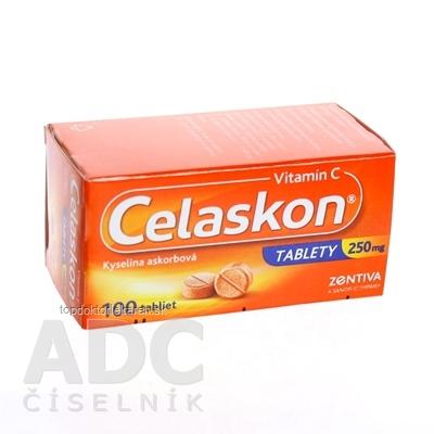 Celaskon tablety 250 mg tbl (fľ.skl.hnedá) 1x100 ks