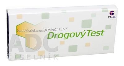 TOZAX Multidrogový test – 10 druhov drog jednokrokový test (COC, THC, MOP, MET, AMP, BZO, BAR, MTD, PCP, TCA v moči) 1x1 ks