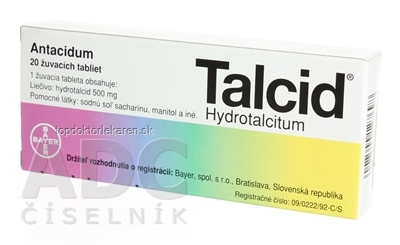 TALCID tbl mnd 500 mg (blis.) 1x20 ks