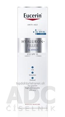 Eucerin HYALURON-FILLER Očný krém Anti-Age intenzívny vyplňujúci krém 1x15 ml