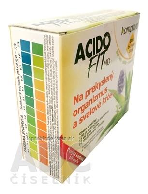 kompava ACIDOFIT MD MIX tbl eff (10 +10) ks + indikačné papieriky - prúžky 100 ks, 1x1 set