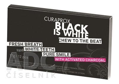 CURAPROX Black Is White žuvačky 1x12 ks