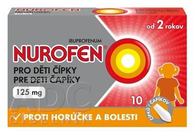 NUROFEN pre deti čapíky 125 mg sup 1x10 ks
