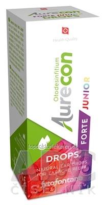 Fytofontana Aurecon DROPS FORTE JUNIOR ušné kvapky s obsahom rastlinných extraktov 1x10 ml