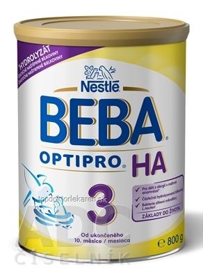 BEBA OPTIPRO HA 3 (inov. zloženie 2018)(následná výživa dojčiat od ukonč.10.mes.) 1x800 g