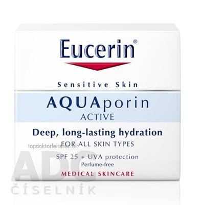Eucerin AQUAporin ACTIVE Krém s UV ochranou pre citlivú pokožku 1x50 ml